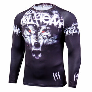 Wolf Rash Guard - Canadian BJJ Shop