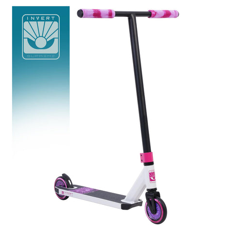 Invert Supreme Mini 1-4-8 Complete Stunt Scooter - White/Black/Pink