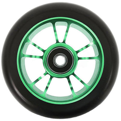 Blunt Envy Roues 10 Spoke 100mm Wheel - Black / Green