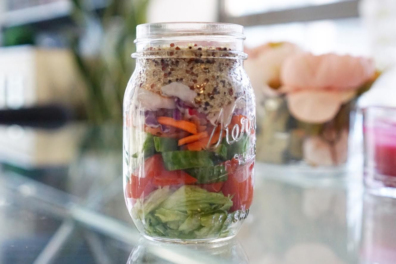5 Minute Meal Prep with Salad Jars
