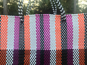 Mexican bags woven plastic tote bags,made in Mexico,Oaxaca totes,Oaxaca bags