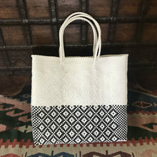 Oaxaca Bag, handmade in Mexico from recycled plastic. Oaxaca Tote bags