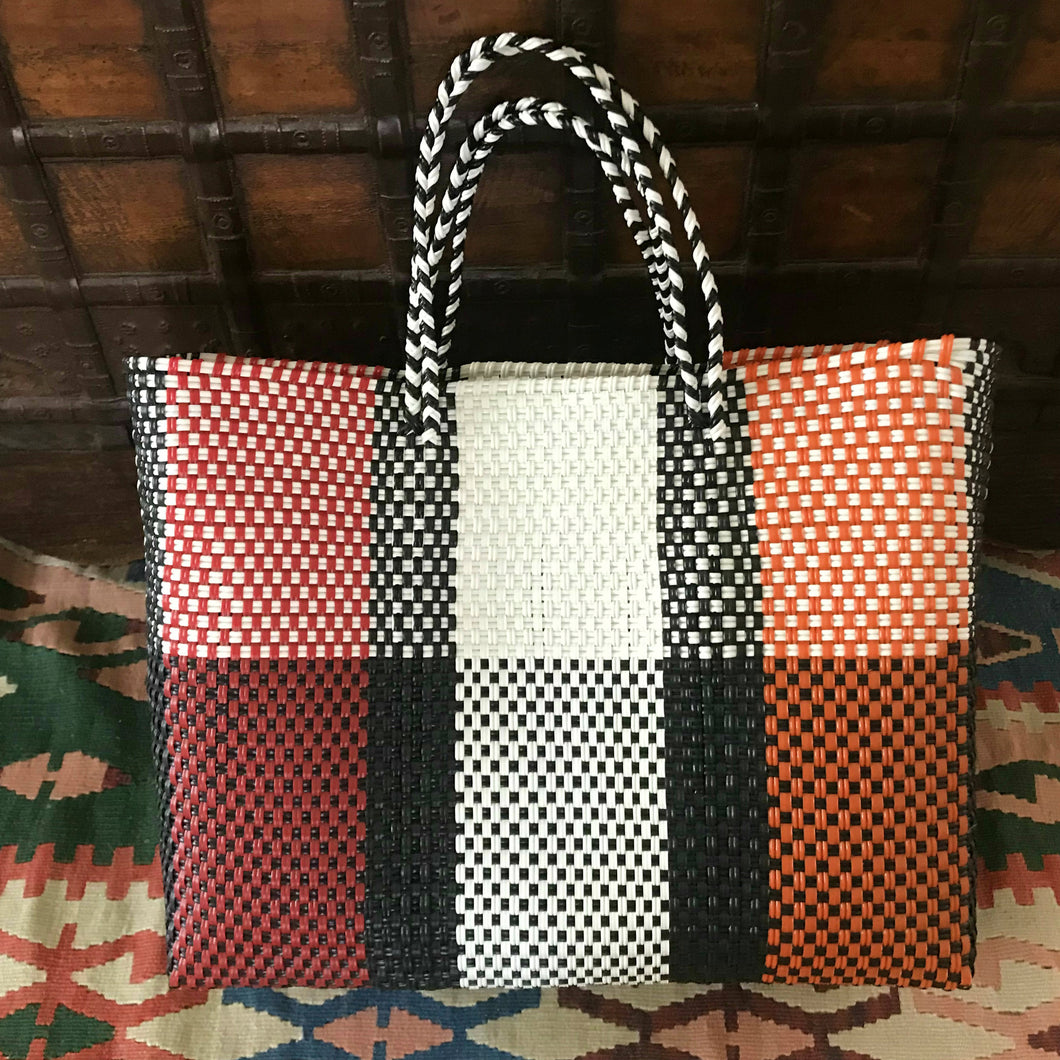 Woven Bag, handmade of recycled plastic Oaxaca