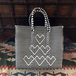 oAXACA BAG, BLACK AND WHITE TOTE BAG, BEACH BAG, SUMMER BAG