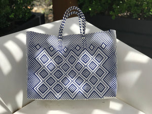 Oaxaca bags, made of recycled plastic. Hamdmade by skilled artisans