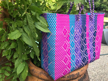 Multicolor Oaxaca bag, Colorful handmade totes,