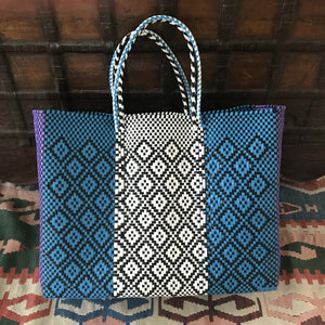 Mexico totes, handmade of recycled plastic, Oaxaca tote-bags