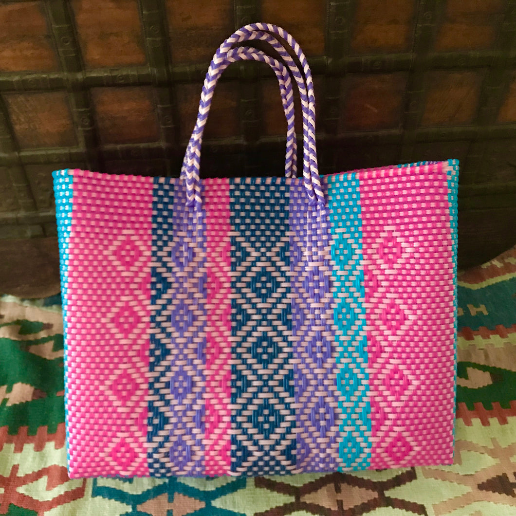 Bohemian Totes, Boho chic handmade of recycled plastic
