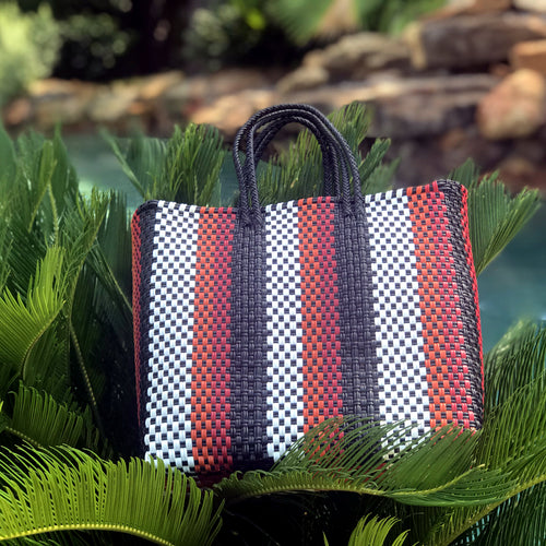Mexican woven plastic bag, Oaxaca bag