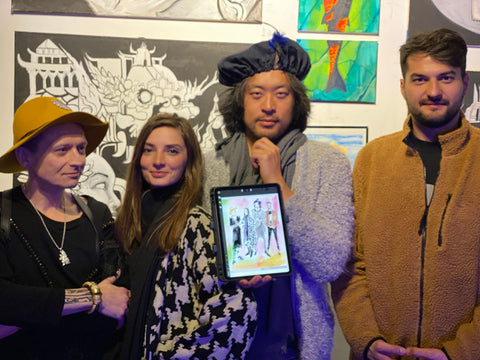 One7 Gallery Fashion Sketch Live Event Illustration Painting Vendor SF 2019