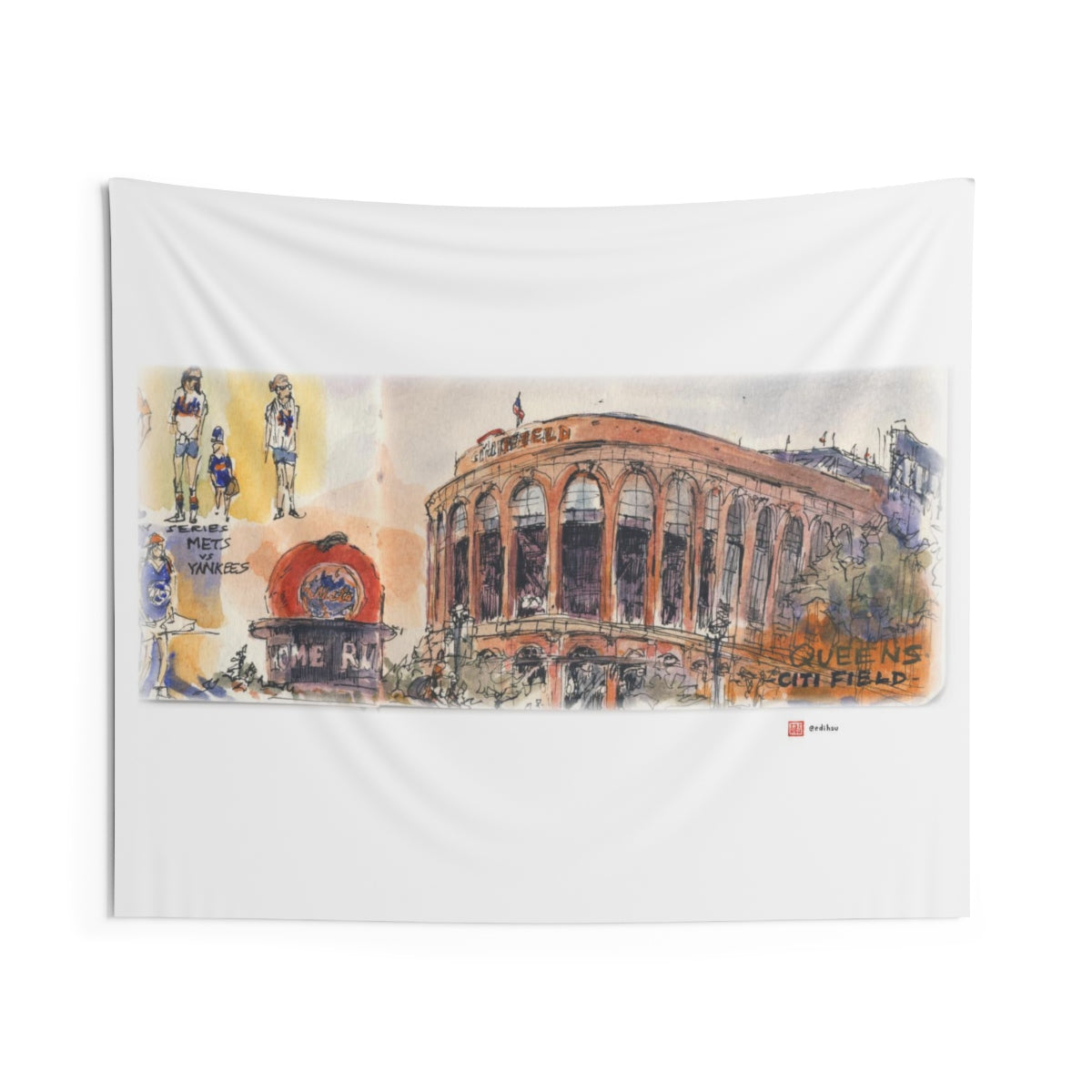 NYC 2019 - Mets Stadium (Citi Field) - Wall Tapestry