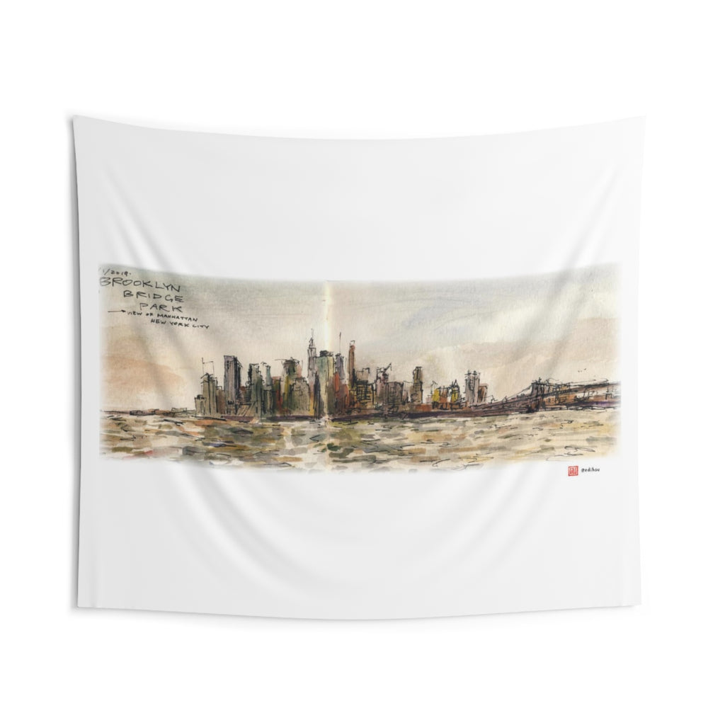NYC - Manhattan Skyline - Wall Tapestry