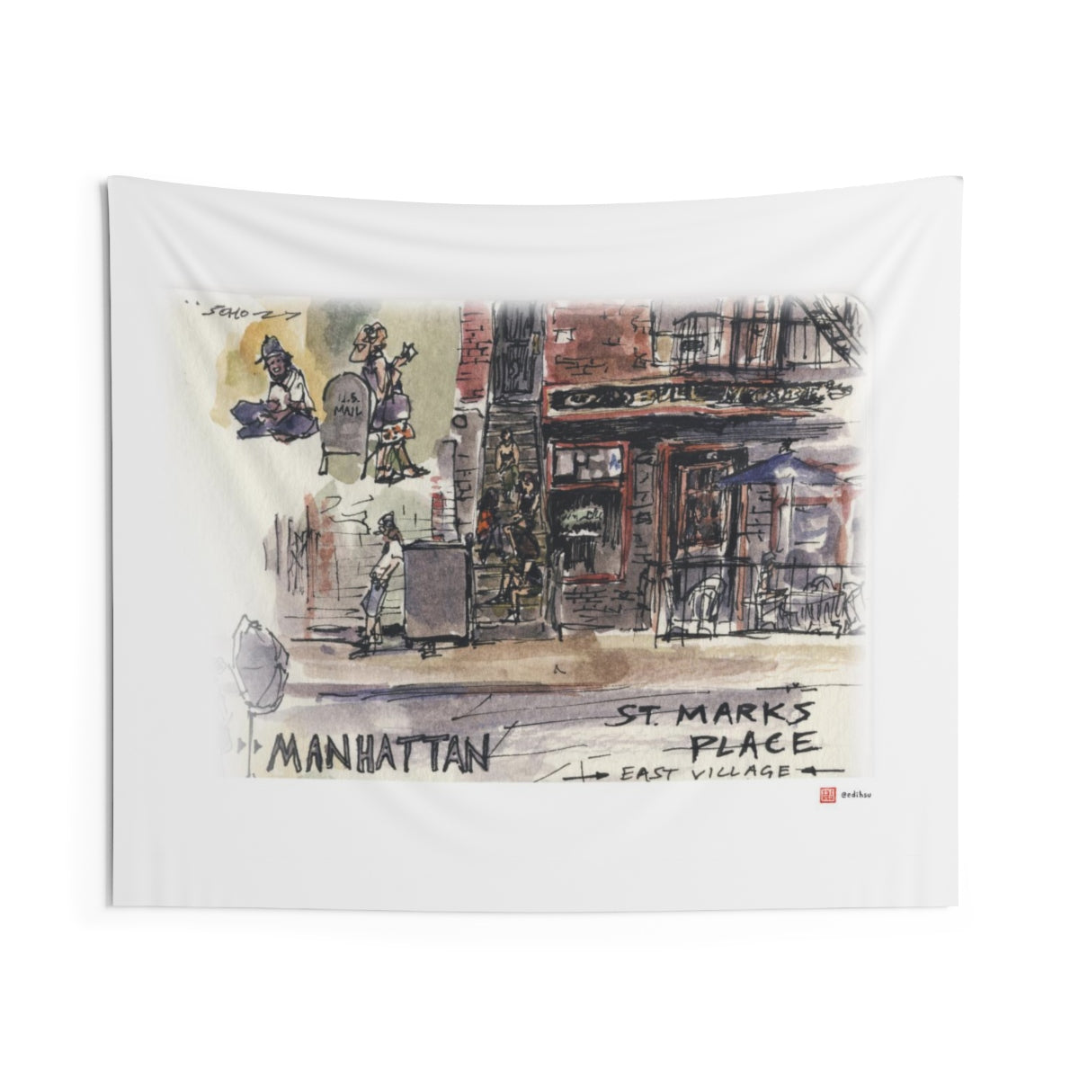 NYC 2019 - St Mark's Place - Wall Tapestry