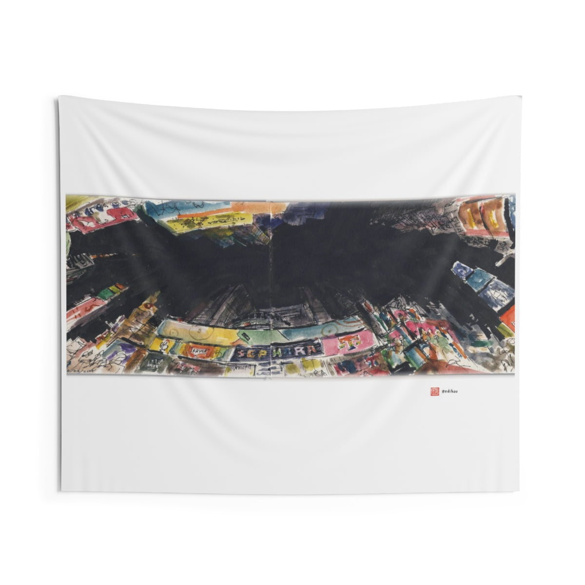 NYC 2019 - Times Square - Wall Tapestry