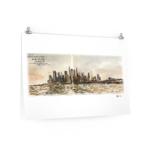 NYC - Manhattan Skyline - Premium Poster