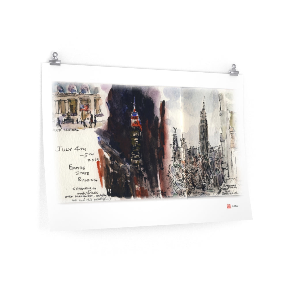 NYC - Empire State Building - Premium Poster