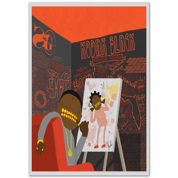 Kodak Black Painting Pictures - Poster
