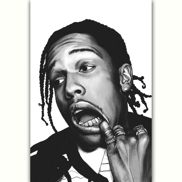 ASAP Rocky Black and White - Poster