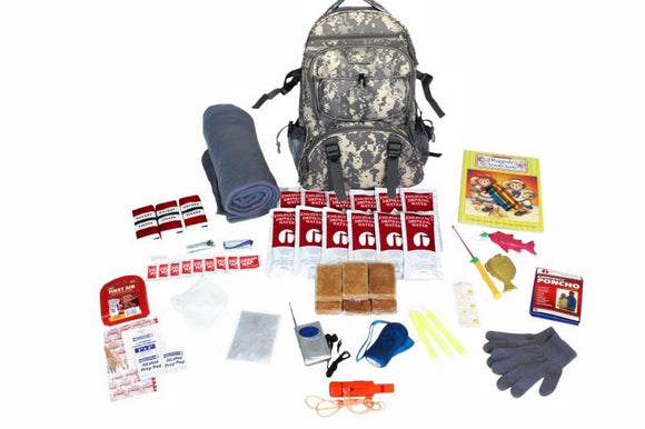 Survival Kit For Children (72+ Hours) - CAMO Backpack