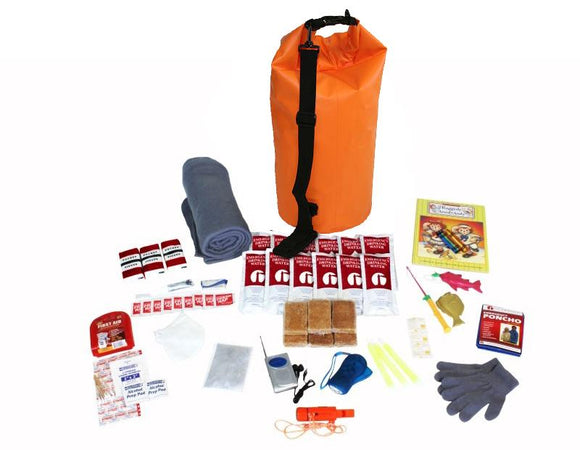 Survival Kit For Children (72+ Hours) - Waterproof Dry Bag