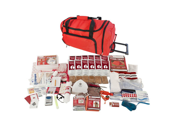 1 Person Elite Survival Kit (72+ Hours) - RED Wheel Bag