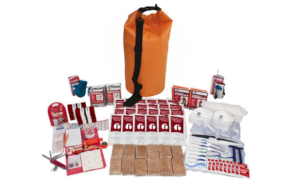 2 Person Deluxe Survival kit 72+ Hrs Waterproof Dry Bag