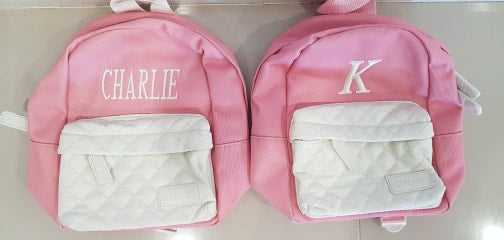PRE-MADE Baby Backpack - Pink