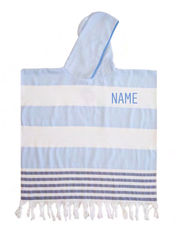 Personalised Kids Beach Poncho