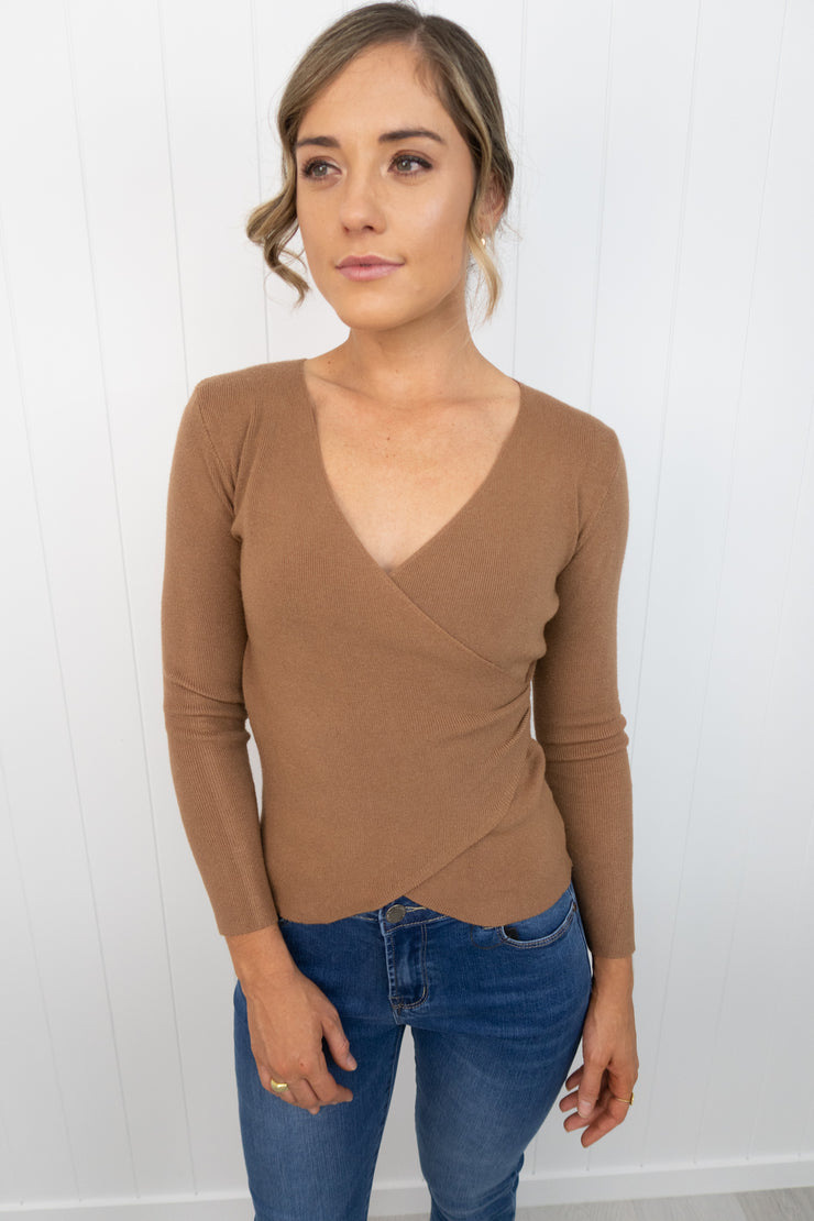 Chrissy Knit -Tan