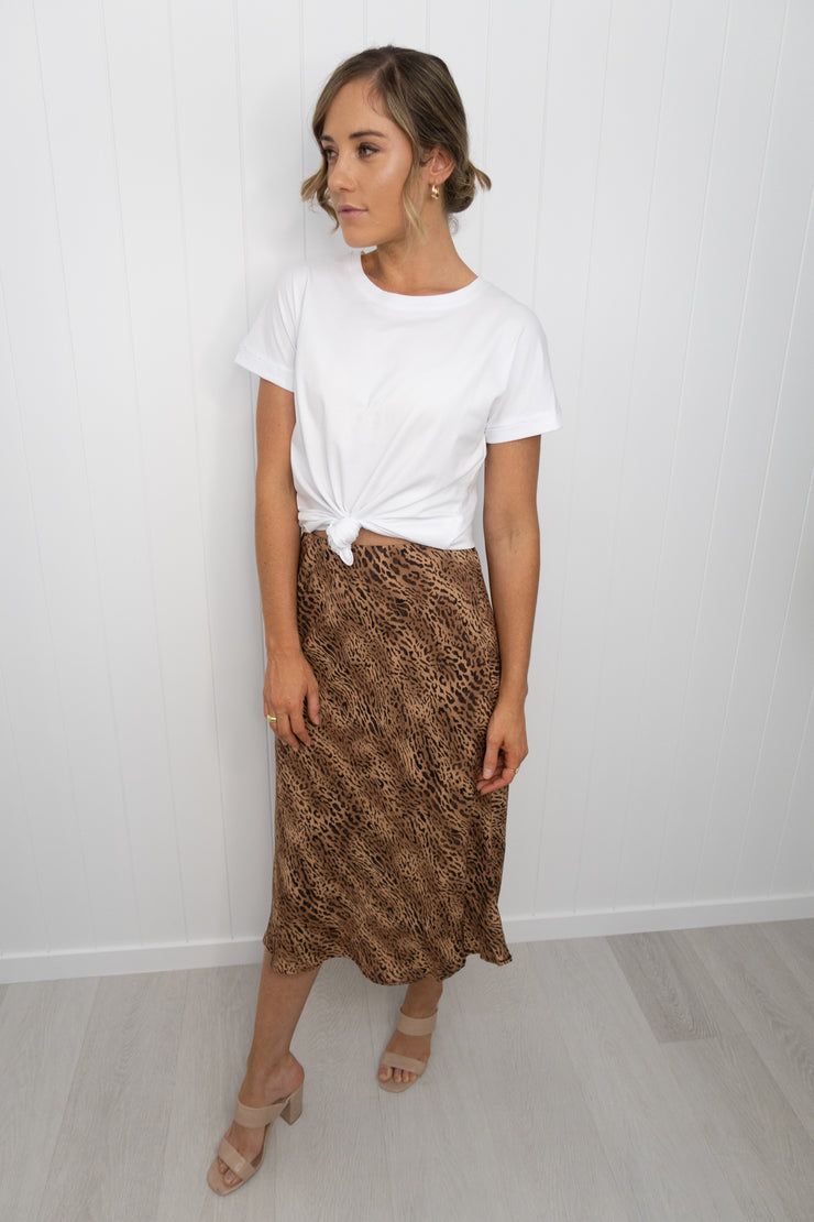Hailey Skirt -Tan