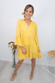 Sienna Dress -Yellow