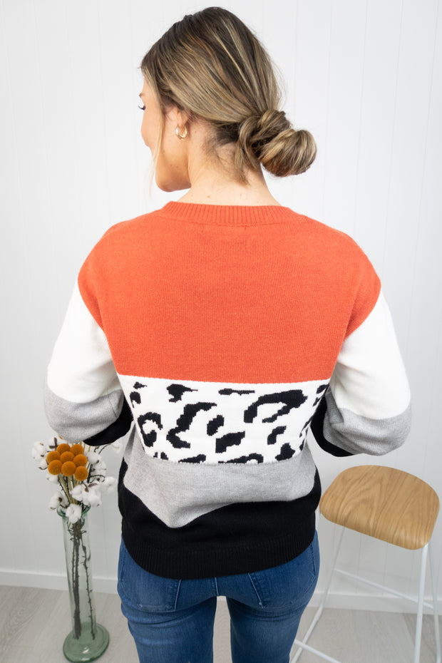 Darby Knit -Rust