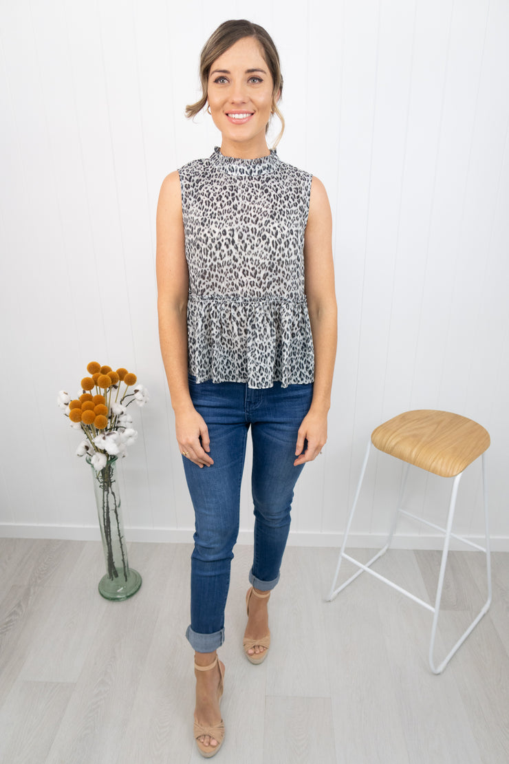 Laura Top -Grey