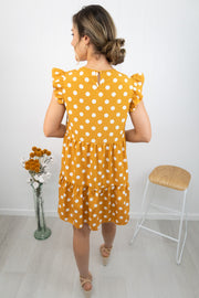 Chloe Dress -Mustard