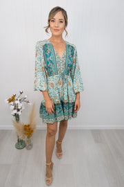 Saffron Dress -Teal