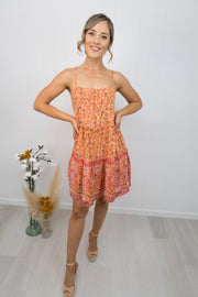 Dixie Dress -Orange