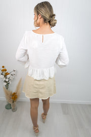 Rosalie Top -White