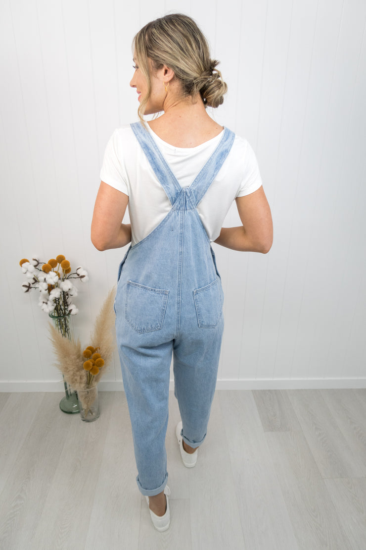 Jessica Overalls -Light denim