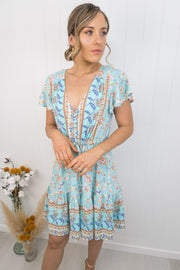 River Dress Mini -Blue