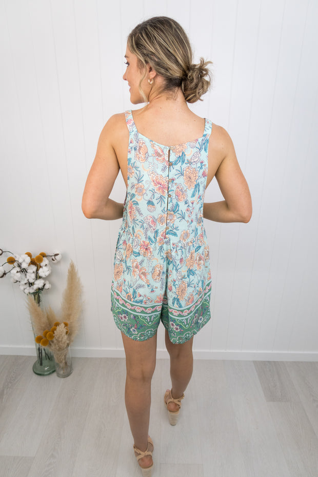 Zoey Playsuit -Teal