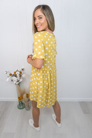 Betty Dress -Mustard