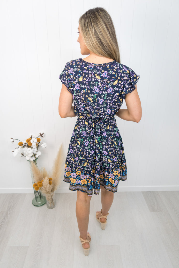 Kingsley Dress -Navy