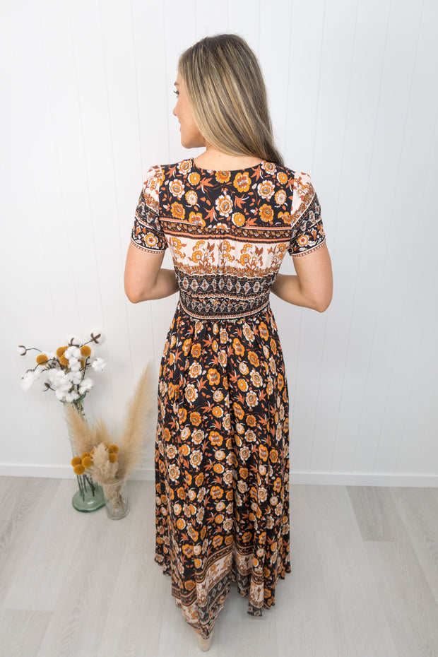 Arlo Dress -Rust