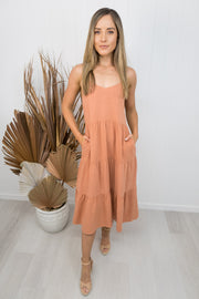Kate Dress -Terracotta