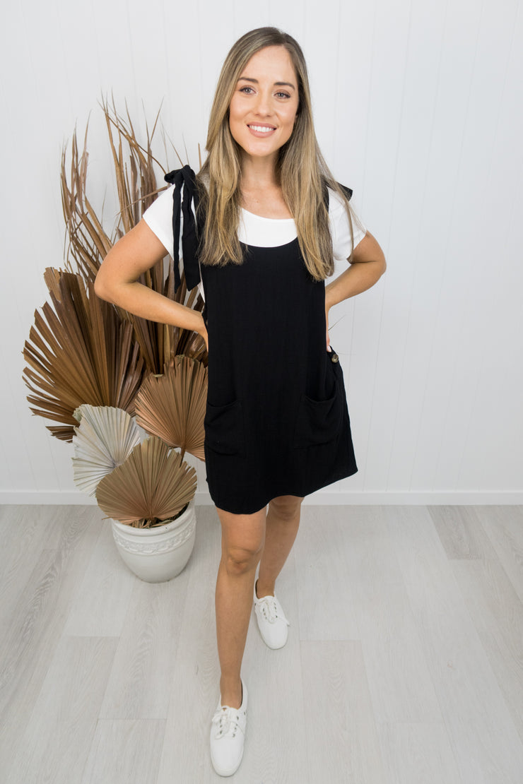 Naomi Pinafore -Black