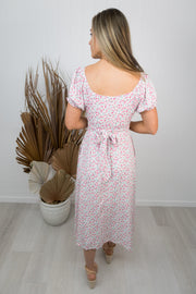 Simone Dress -White/floral