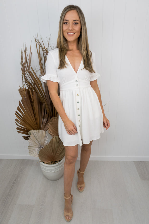Morgan Dress Mini -White