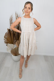 Claire Dress -Beige