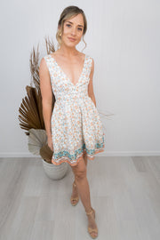 Jess Dress -White/floral