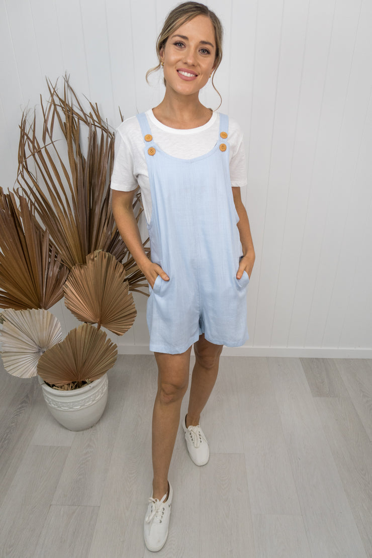 Frances Overalls - Light blue